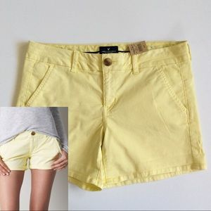American Eagle Outfitters Pants - [American Eagle] Yellow Twill Midi Shorts