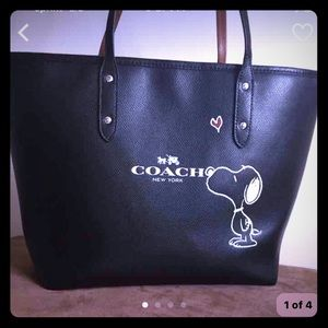 Coach Handbags - Limited Edition Coach Snoopy Tote!!!