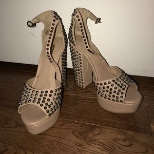 Wild Pair Shoes - Wild Pair studded platform high heels