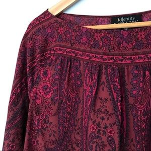 Identity by Lord & Taylor Silk Paisley Blouse