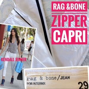 rag & bone Pants - ⚡️25%SALE⚡️Rag & Bone Capri zipper skinny jeans