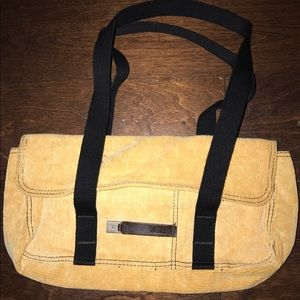 Diesel Spare Parts Cotton Striped Yellow Handbag
