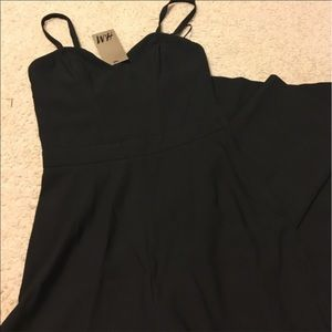 H&M Other - NWT H&M Black corset jumpsuit wide leg 2