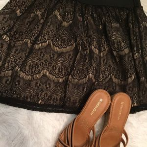 Lily Rose Dresses & Skirts - Lily rose black lace skirt size x large