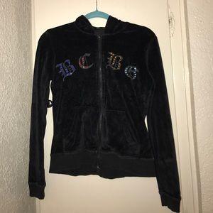 11thstreet Tops - BCBG Distressed Velour sweatshirt