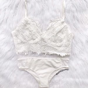 B-Long Boutique  Other - delicate white lace bikini set