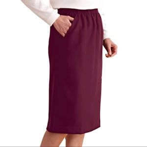Anthony Richards Dresses & Skirts - Anthony Richards Burgundy Silhouette Pencil Skirt