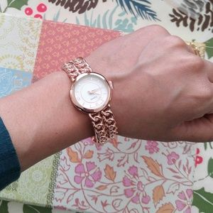 Rose Gold Geneva Cuff Watch