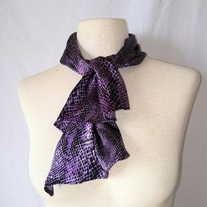 2for1 SILKY Snakeskin Head/Neck Scarf