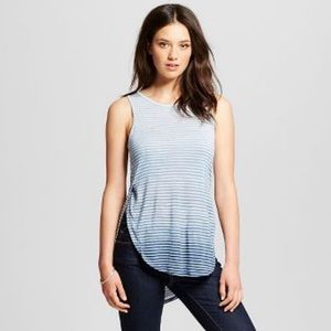 Mossimo Supply Co. Tops - Blue Ombré Side Split High Low Tank