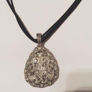 Premier Designs Jewelry - Premier Designs Pendant Necklace Magnetic Silver