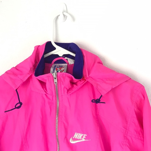 3872a3e1da Nike Vintage Hot Pink and Royal Purple Windbreaker