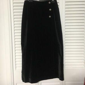 Roughrider Dresses & Skirts - Roughrider Black Velour Wrap Long Skirt. Size: L