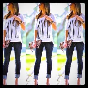 Tops - Short Sleeve Fashion Love T-Shirt