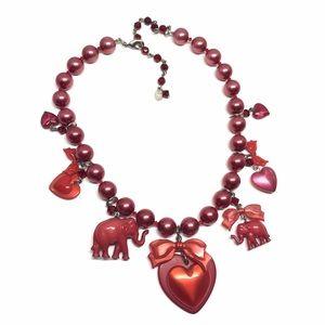 Tarina Tarantino Jewelry - Tarina Tarantino Heart Statement Necklace ❤️ 🐘