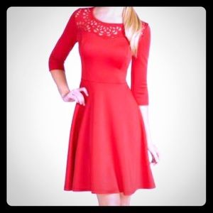 Cato Dresses & Skirts - Red hot dress with laser cut neckline 💃🏻