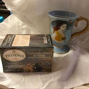 Disneyland Beauty & The Beast Mug with Box of Tea