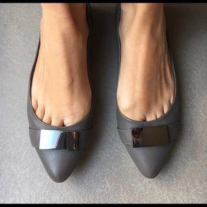 Sole society grey pointed toe flat sz 6.5