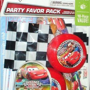 Disney Cars Party Favors & Scene