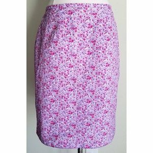 Faded Glory Dresses & Skirts - Lavender Purple & Pink Spring Floral Stretch Skirt