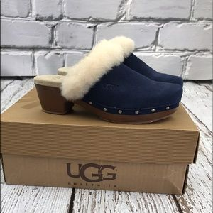UGG Other - 💕SALE💕 Ugg Blue Fur Kalie II Clogs