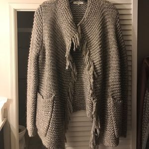 Madewell open cardigan sweater with pin size S