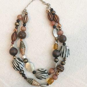 Premier Designs Jewelry - Premier Designs BOHO Necklace Animal Shell Wood ❤️