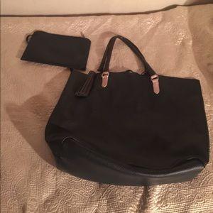 Zara woman leather large bag