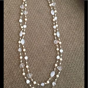 "Premier Designs Jewelry - 60"" Premier Designs BOHO Necklace Pearls Beads ❤"