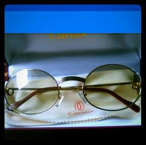 06295183406 Cartier Accessories - Cartier wire frame sunglasses 55 22 135