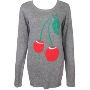 Cherries gray sweater