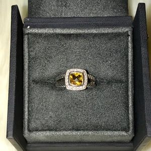 David Yurman Jewelry - David Yurman Petite Albion Citrine Diamond Ring