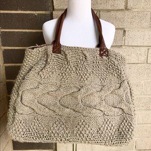 Oversized Knit Handbag