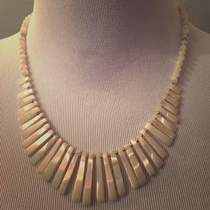 Jewelry - SALE: White and gold shell necklace