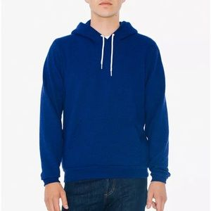 NEW American Apparel Blue Hoodie - Peppered Lapis