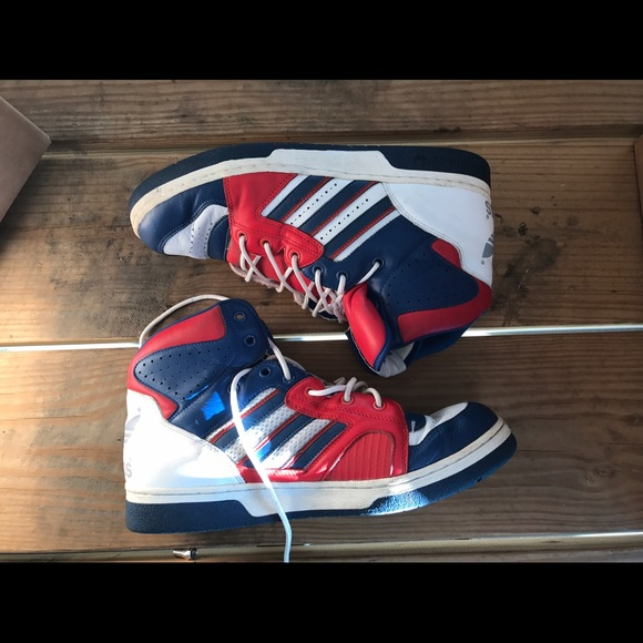 Mens Vintage Adidas High Tops Size 2