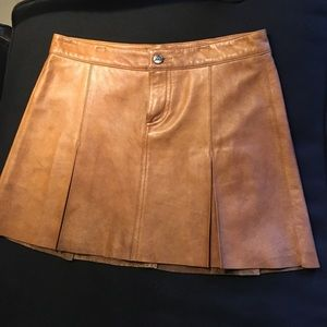 Joie suede pleated skirt