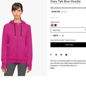 Beyond Yoga Tops - Cozy tab bow hoodie