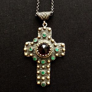 Vintage Jewelry - Vintage Silver Cross OOAK Pendant