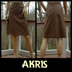 Akris Dresses & Skirts - 🆕AKRIS Genuine Leather Skirt In Cinnamon