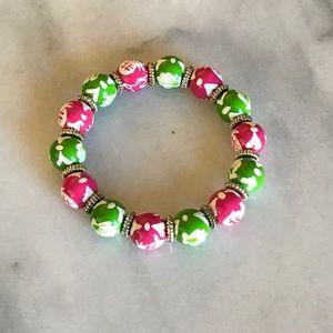 Angela Moore Jewelry - Angela Moore Pink and Green Bracelet