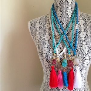 Twilight Gypsy Collective Jewelry - Mixed Sacred Druzy Tassel Necklace