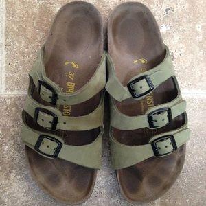 Shoes - Birkenstock Florida ~ green