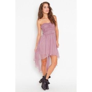 Lush Dresses & Skirts - High Low Lilac Chiffon Strapless Dress
