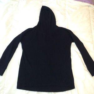 Waffle knitted black shirt!