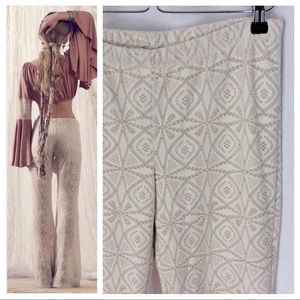 Lace Overlay Bell Bottoms