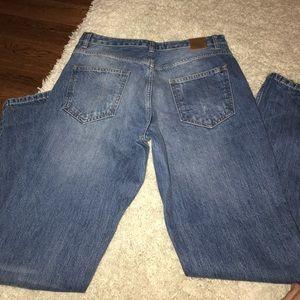 Zara blue minor ripped jeans