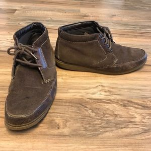 Clarks Other - Clarks Mens Sizes 10 Boots Sport Moc Brown Suede