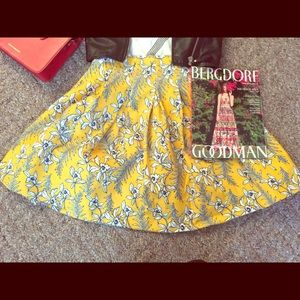 Few Moda Dresses & Skirts - Few Moda - Yellow Floral High Waist Skirt
