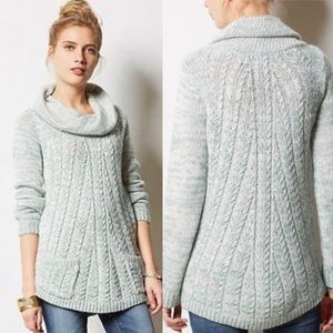 Anthropologie Sweaters - Anthropologie GUINEVERE cabled cowl pullover